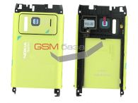 Nokia N8-00 - Задняя панель корпуса в сборе со звонком (цвет: Green), Оригинал на сайте http://www.gsmservice.ru